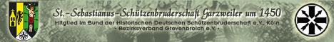Internetauftritt der St.-Sebastianus-Schützenbruderschaft Garzweiler um 1450. Mit den nachstehenden Ausführungen wollen wir unsere Gemeinschaft, unsere Sitten und Werte und unsere Geschichte Ihnen nahe bringen. Darüber hinaus nutzen wir das Internet, um Neuigkeiten und Aktivitäten unseren Mitgliedern und Interessierten bekannt zu geben.